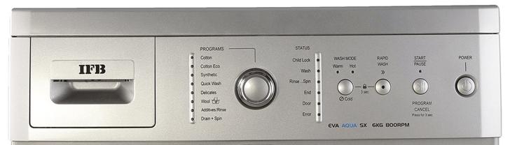 IFB Eva Aqua sx 6 KG – Silver 800 rpm